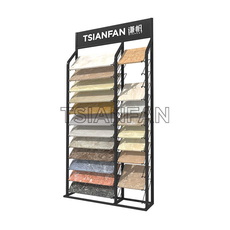ARTIFICIAL QUARTZ STONE SAMPLES A-SHAPED DISPLAY RACK-SRL908