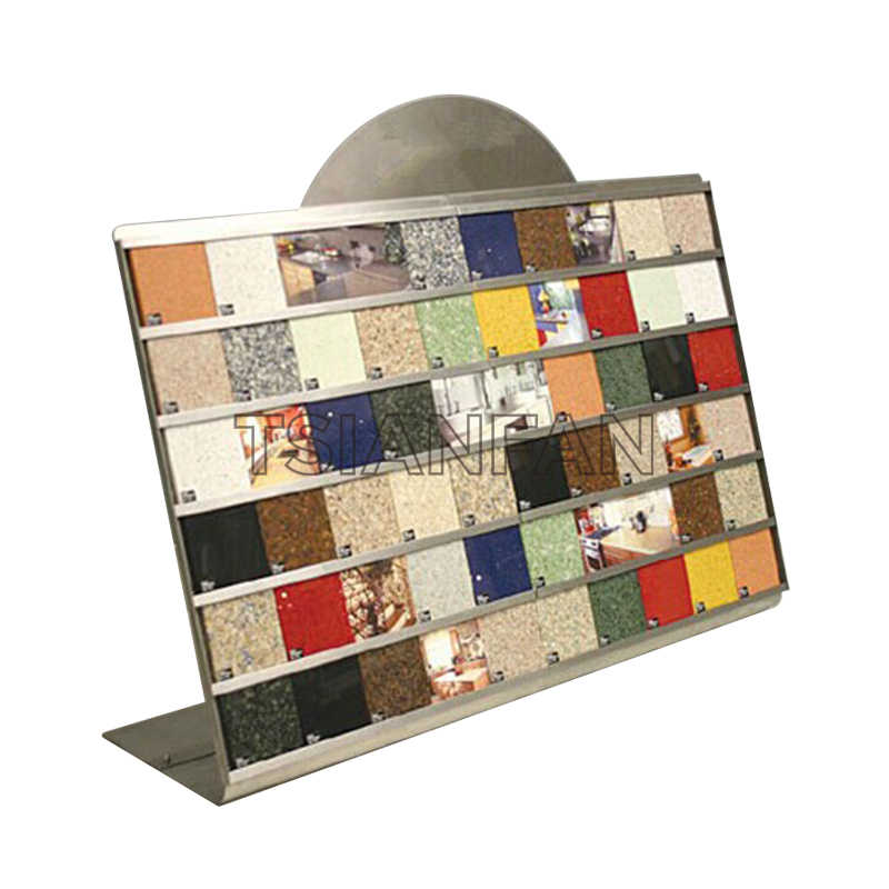 ARTIFICIAL QUARTZ STONE SAMPLES A-SHAPED DISPLAY RACK-SRT013