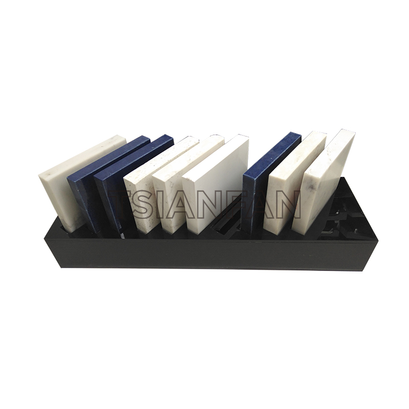 ARTIFICIAL QUARTZ STONE SAMPLES A-SHAPED DISPLAY RACK-SRT021