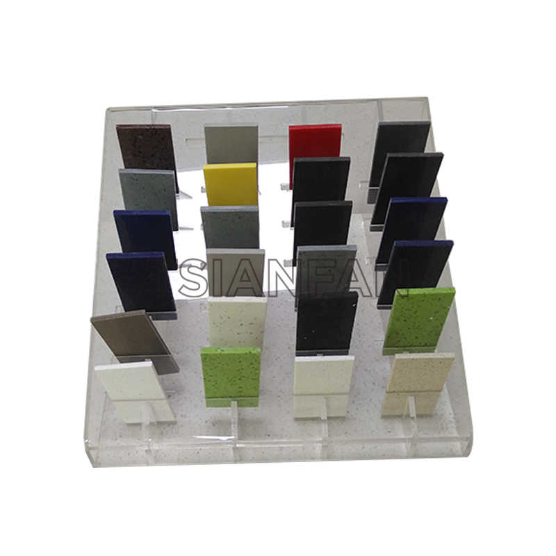 ARTIFICIAL QUARTZ STONE SAMPLES A-SHAPED DISPLAY RACK-SRT024