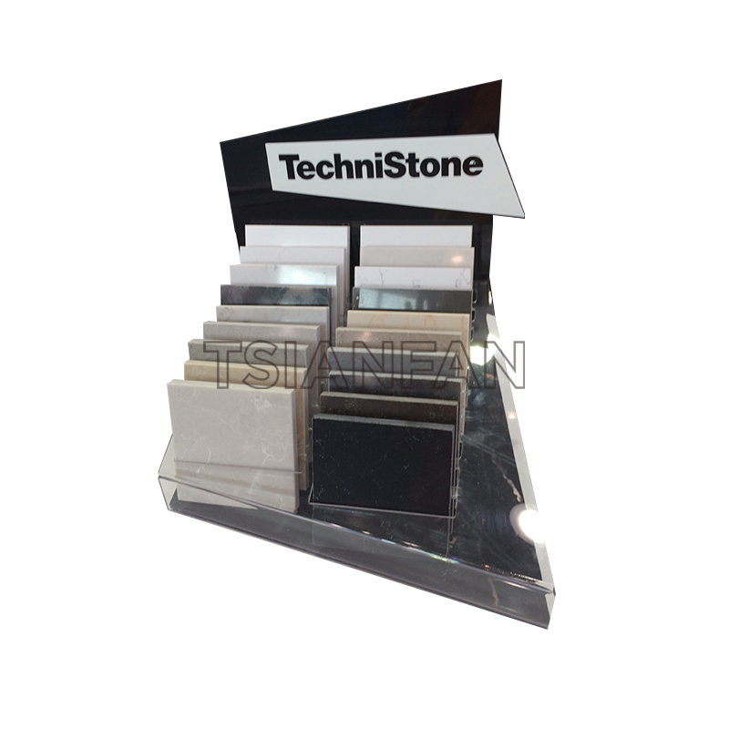 ARTIFICIAL QUARTZ STONE SAMPLES A-SHAPED DISPLAY RACK-SRT303