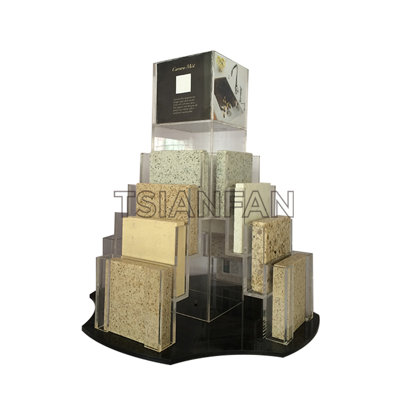 ARTIFICIAL QUARTZ STONE SAMPLES A-SHAPED DISPLAY RACK-SRT304