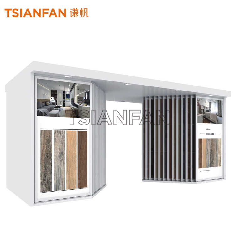 PULL-OUT CERAMIC TILE DISPLAY RACK-CT912