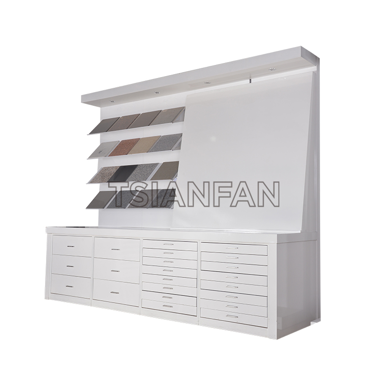 CABINET COMBINATION CERAMIC TILE DISPLAY STAND-CZ053