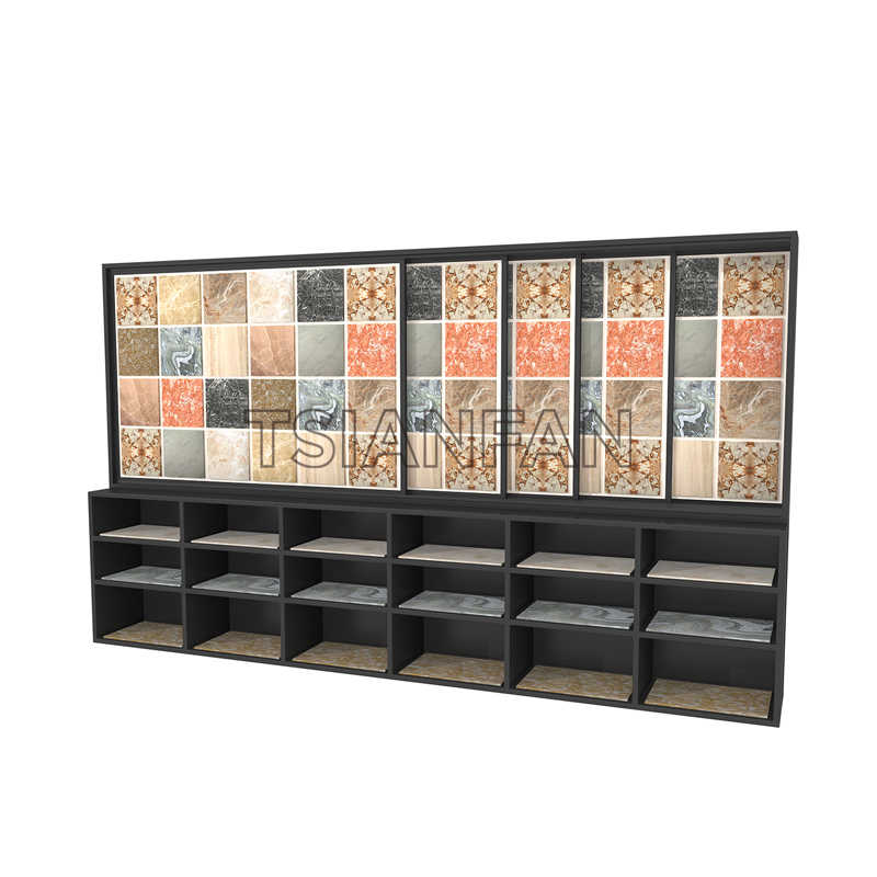 CABINET COMBINATION CERAMIC TILE DISPLAY STAND-CZ011