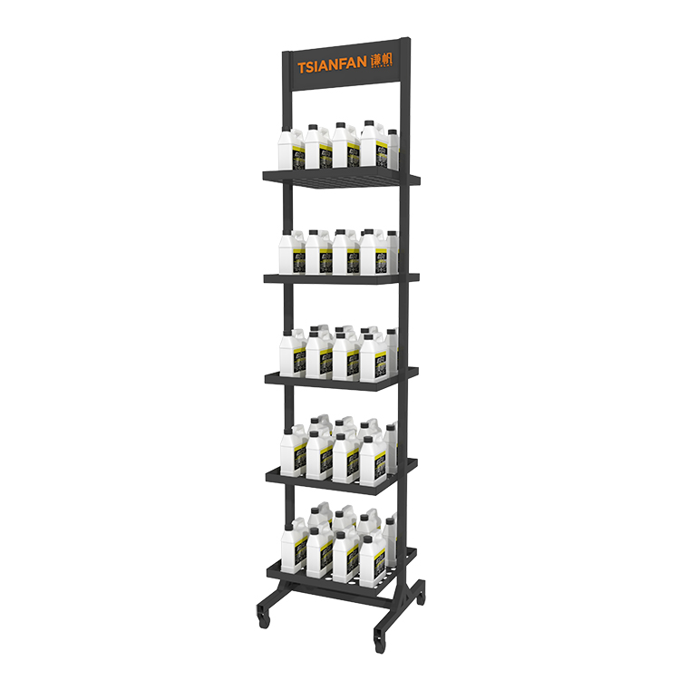 Retail Store Bottle Display Rack-QT003