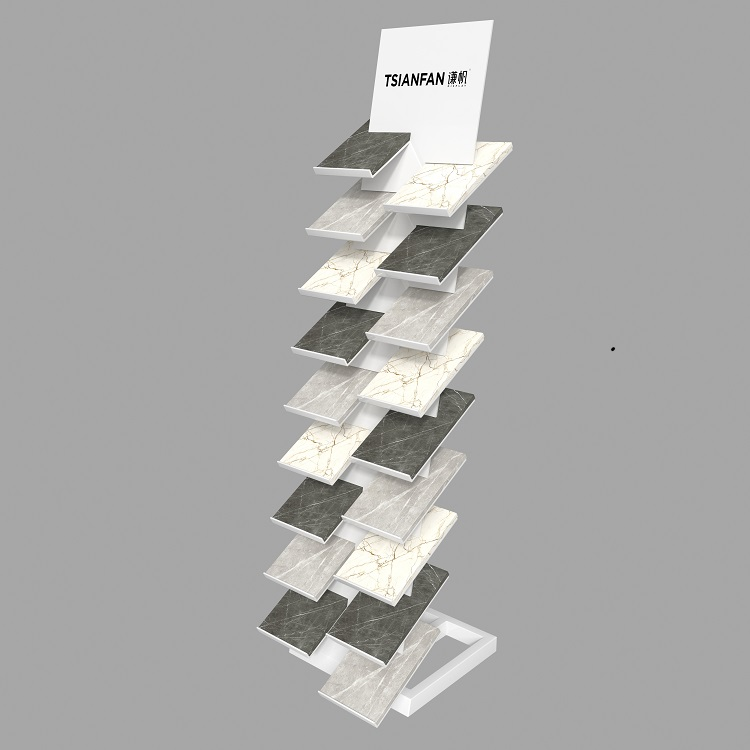 Marble Quartz Sample Stone Tower Display-SRL134