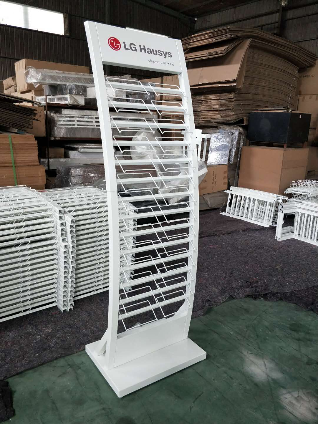 White Natural Stone Metal Display Rack Factory Wholesale SW004