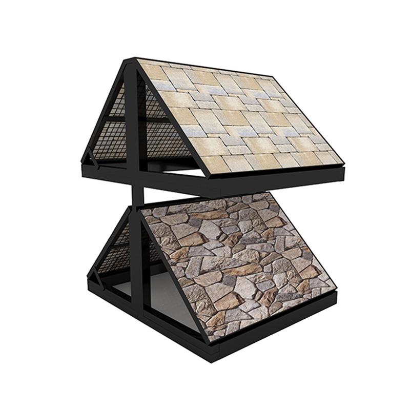 Outdoor Natural Stone Tower Type Stone Display Rack Wholesale SW005