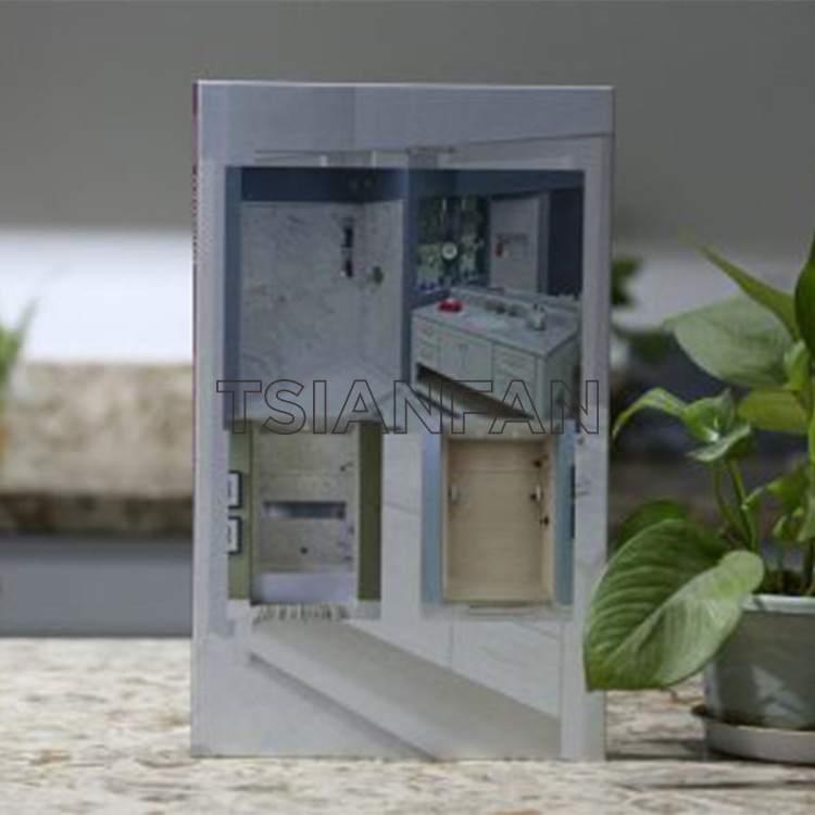 2 Pages Stone Quartz Sample Book With Finger Sapce Stone Display-PY2015