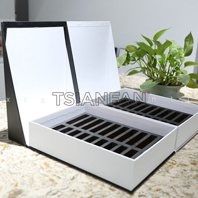 Flip Stone Sample Box For Quartz Stone And Marble Stone Packaging Display-PB2010