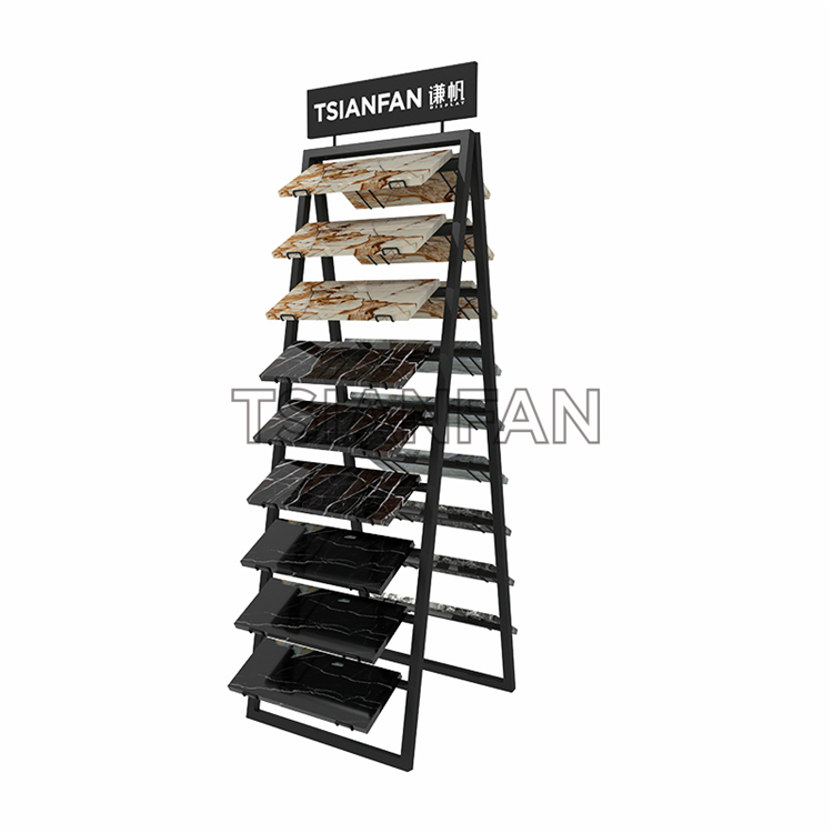 Marble Display Stand, Granite Display Stand, Metal Floor Stand, Stone Display Stand For Exhibition Hall-SRL144