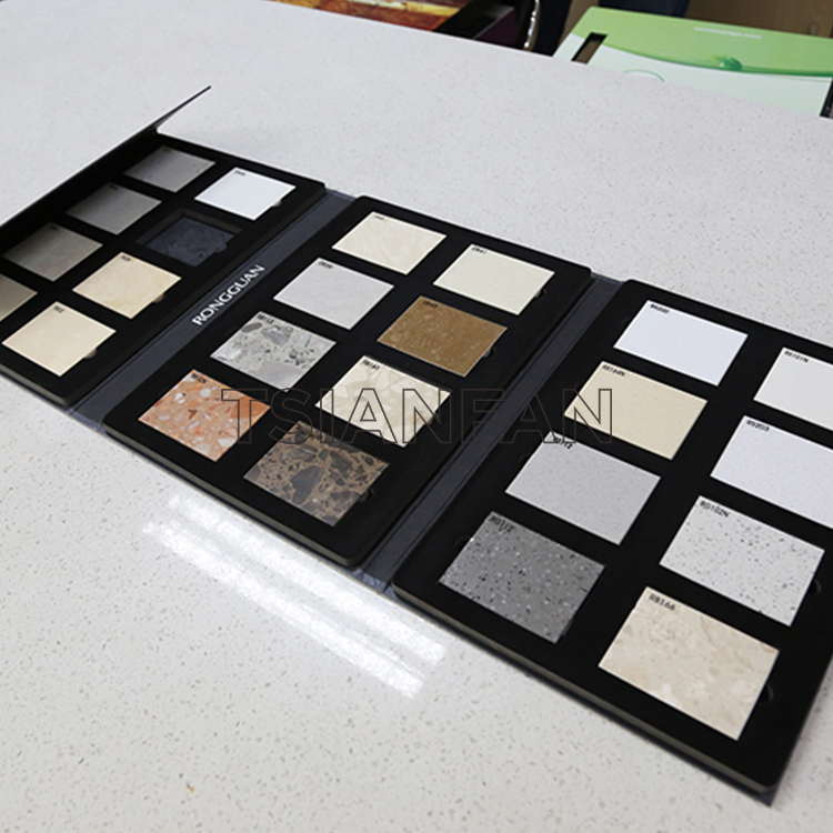 Mosaic Tile Sample Display Book In The Showroom, 4-page Folded Sample Book-PY2016