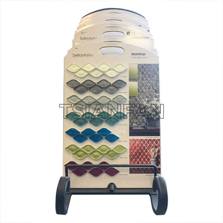 A Various Mosaic Tiles Portable Display Boards On Wheels-PZ2023