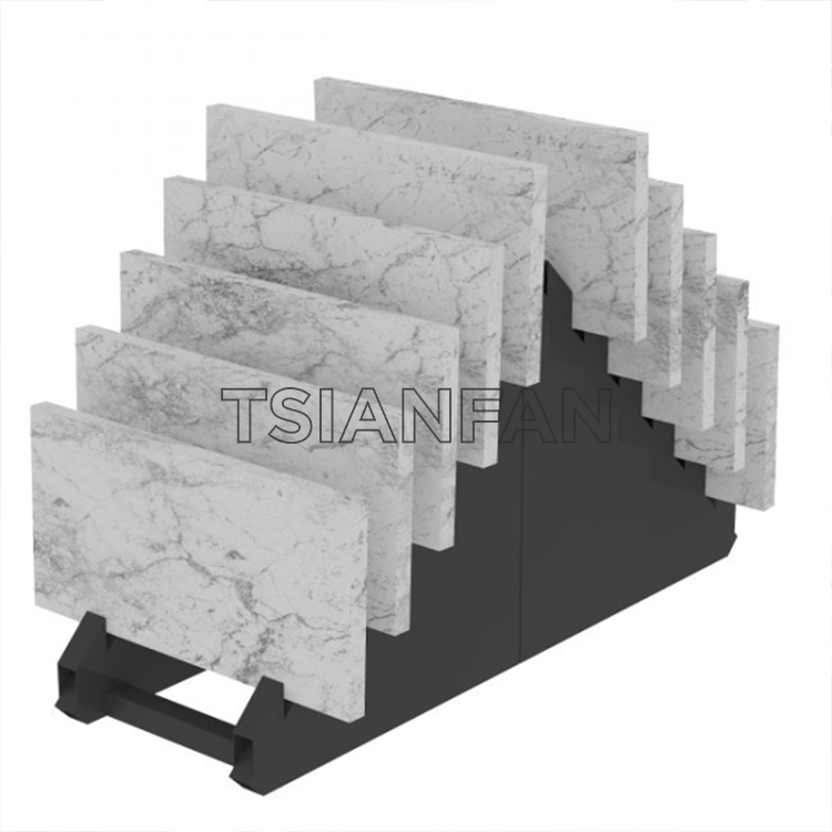 Small Metal Tile Stand For Showroom Displays-SRL224