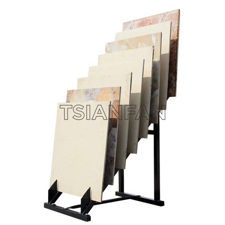 New Ceramic Tile 600 800 Line Sample Display Rack Stone Wood Display Floor Display Rack Promotion-SRL144