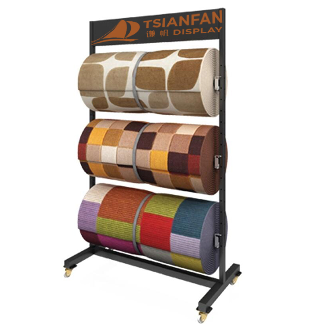 Retail Fabric Store Displays,Carpet Display Rack-CJ2010