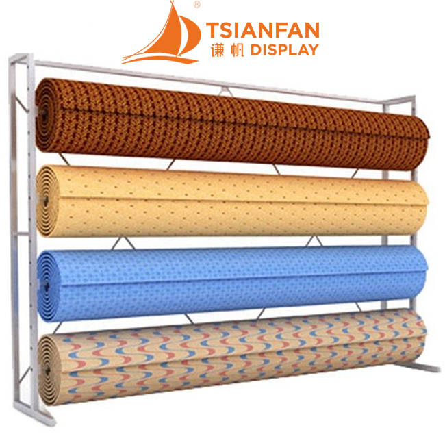 Rolling Up Rug Carpet Roll Display Stands-CJ2011