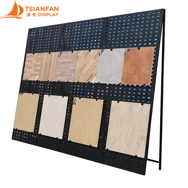 Customized Metal Mosaic Ceramic Tile Sample Display Rack Floor Display Rack ML024
