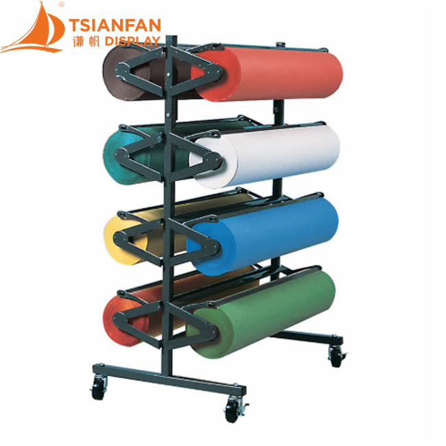 Floor Metal Rolling Display Stand, Rug Roll Display Stand-CJ2014