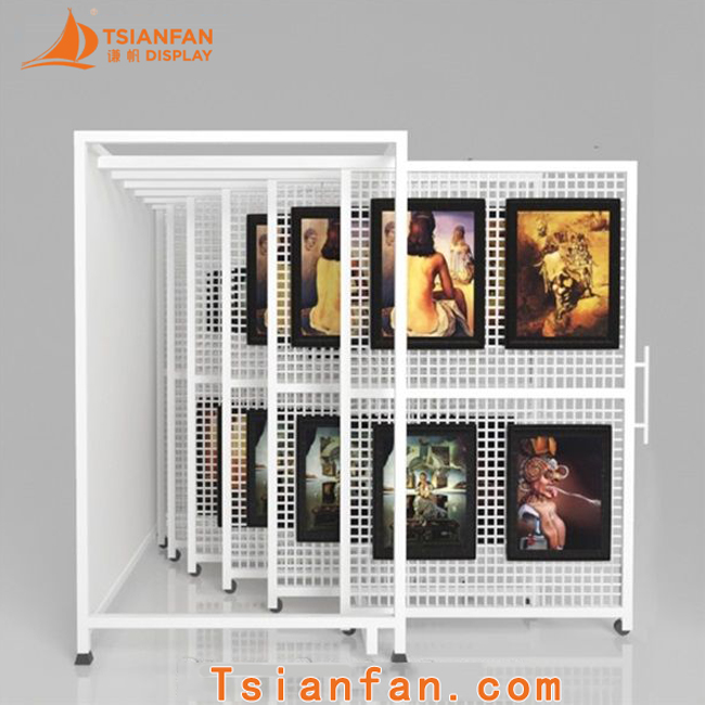 Wall Mounted Art Rack Wire Mesh Display Rack-SW054