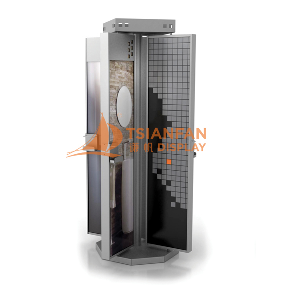 Artificial Stone Mosaic Tile Rotating Display Stand SRZ048