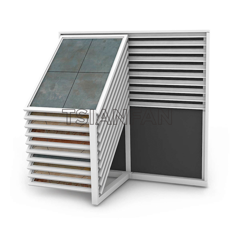 Drawer Waterfall Stock Displays Flooring Display Systems St-43 Stone Display