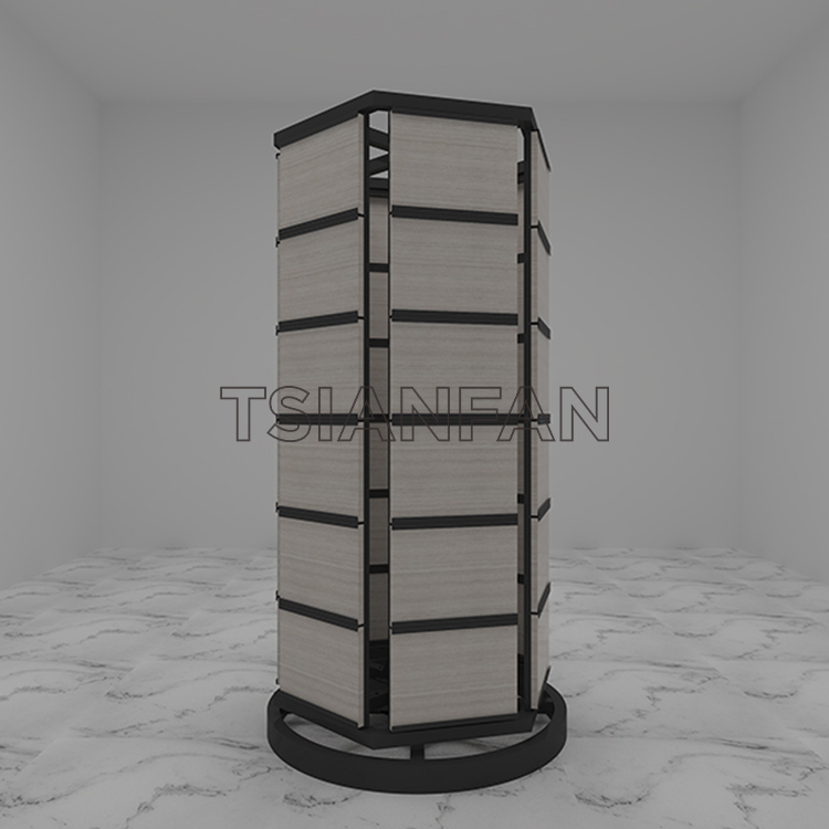 Marble Carousel Sample Display Stand For Stone Quartz St-86
