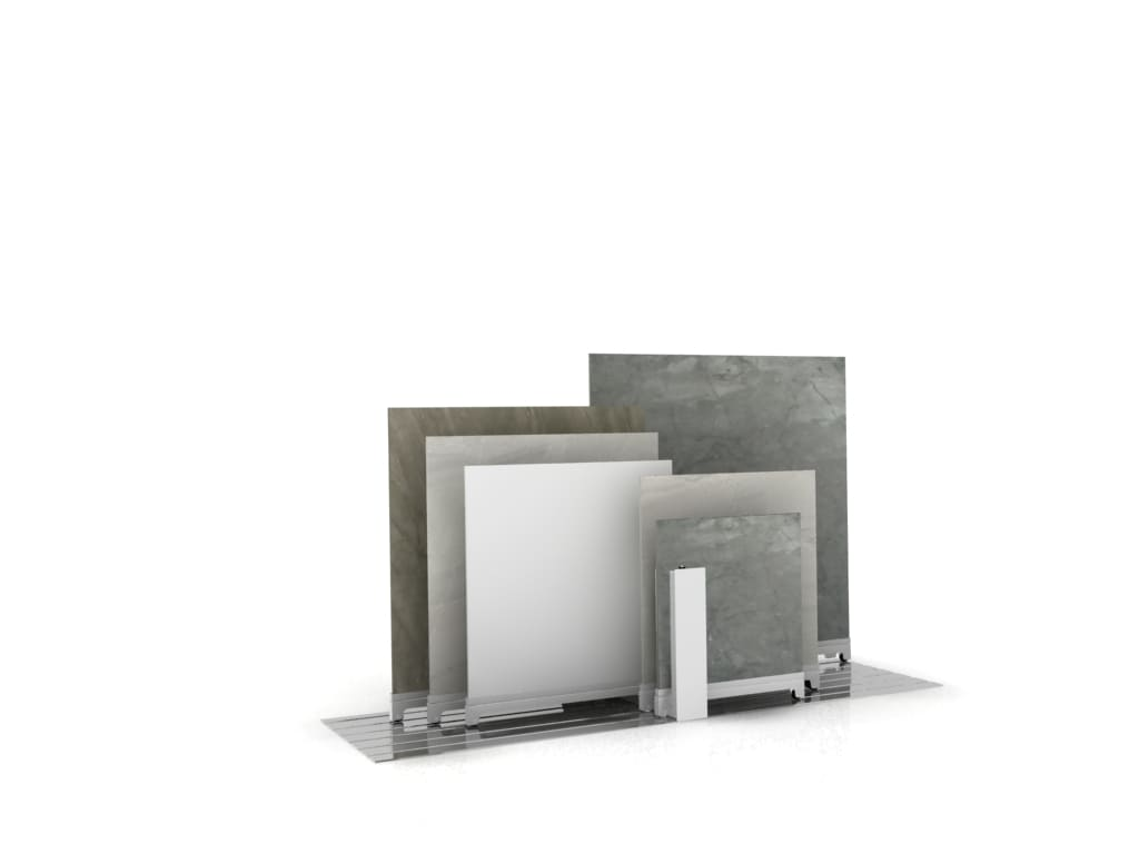 Ceramic Tile Display Stand With 6 Sliding Guides