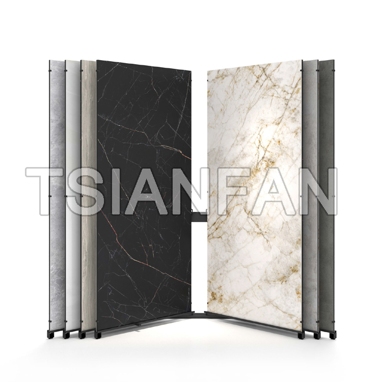 Sintered Stone Tile Page Turning Sliding Display Stand-ST001