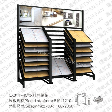 CX011-45°Double Rows Reclining Type Rack
