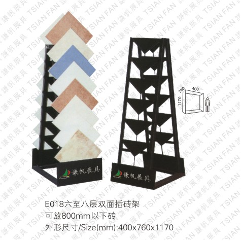 Ceramic tile display racks