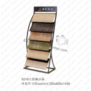 Stone Sample Display Showing Rack-E016