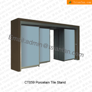 Metallic Ceramic Tile Display Shelf-CT059
