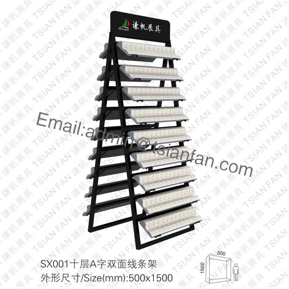 SX001 Ten Level Double Sides Lines Type Rack