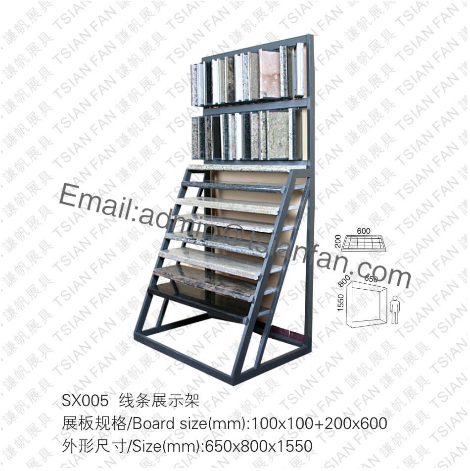 Stone Mosaic Tile Lines Display Rack-SX005