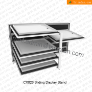 CX028 Horizontial Panel Sliding Display Stand Unit