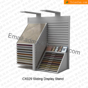 CX029 Slopping Panel Nature Stone Display Stand Unit