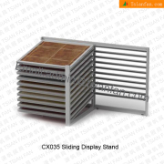 CX035 Hot Sale Stone Tile Display Sliding Free Stand Rack
